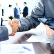 Business people shaking hands — Stockfoto #30251097