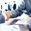 Business people shaking hands — Stock Photo