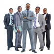 Group of african american businessmans — Stock Photo
