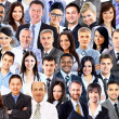 Collage of a group of business people portrait smiling — Stock Photo