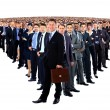 Foto Stock: Large group of businesspeople