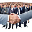 Handshake and business team — Stock Photo #41649411