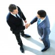Top view of a two businessman shaking hands - Welcome to business — Stock Photo #41649457