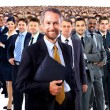 Large group of businesspeople — Stockfoto