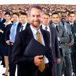 Stock Photo: Large group of businesspeople