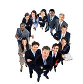 Top view of a group of business people — Stock Photo