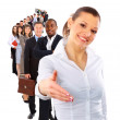 Businesswoman and shis team — Stock Photo #4233780