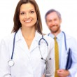 Beautiful young doctor with stethoscope — Stock Photo #4247586
