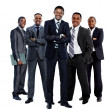 Stock Photo: African american business team