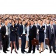 Large group of people full length isolated on white — Stockfoto #42436553