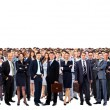 Foto Stock: Large group of people full length isolated on white