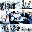 Stock Photo: Businesspeople having meeting in modern office