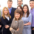 Visionary young business group - Mature business man with his colleagues in — Stock Photo #4297206