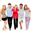 Cheerful group of young . Isolated. — Stock Photo #4673122