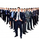 Large group of businesspeople — Zdjęcie stockowe