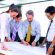 Business meeting - manager discussing work with his colleagues — Stock Photo #4875117