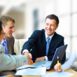 Business shaking hands, finishing up a meeting — Stock Photo #5207565