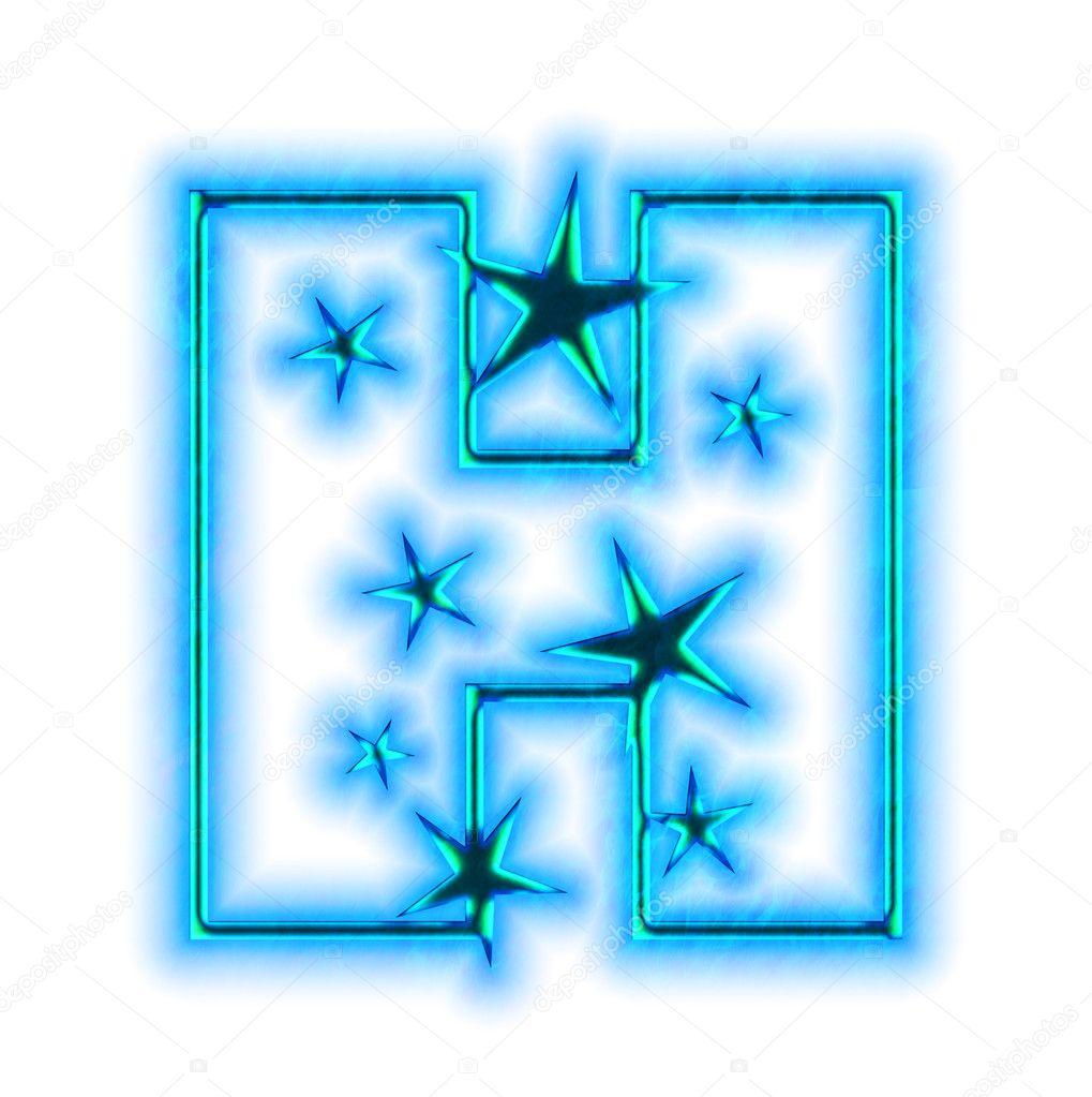 Christmas star font