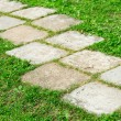 Tiled Garden Path - Stock Photo