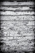 Black and White Grungy Wooden Wall — Foto Stock