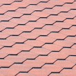 Red Onduline Roof Tiles - Stock Photo