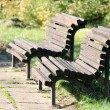 Wooden Benches in Park — Stock Photo