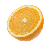 Juicy Orange Cut in Half Isolated on White Background — Stock Photo