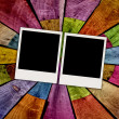 Two Blank Photos on Wood Background — Stock Photo #1558733