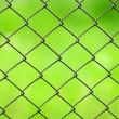 grande plano de cerca do engranzamento de fio sobre fundo verde — Foto Stock