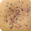 Whole-Wheat Sesame Seed Bun on White Background — ストック写真