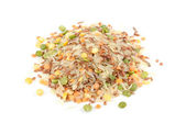Pile of Rice and Legume Mix Isolated on White Background — Stock Photo