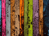 Multicolored Wood Planks Background — Stock Photo