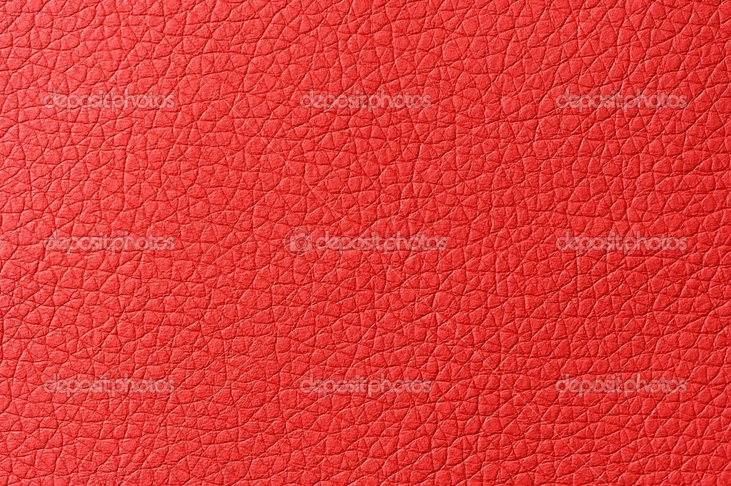 Bright Red Artificial Leather Background Texture Stock