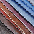 Artificial Leather Samples — Stock Photo