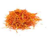 Safflower (Saffron Substitute) Isolated on White Background — Stock Photo