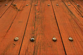 Wooden Fence at Unusual Perspective — Stock Photo