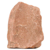 Piedra de granito rojo aislado sobre fondo blanco — Foto de Stock
