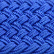 Stock Photo: Blue Interwoven Fabric Texture