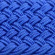 Blue Interwoven Fabric Texture - Stock Photo