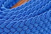 Blue Folded Cord Belt — Stock Photo