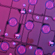 Stock Photo: Purple Circuit Board
