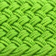 Stock Photo: Green Interwoven Fabric Texture