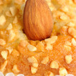 Almond on Nut Muffin Close-Up — Stock Photo