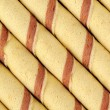 Wafer Roll Background — Stock Photo