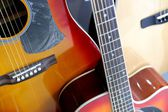 Acoustic Guitars on Display at Store — Stock Photo