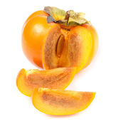 Persimmon Isolated on White Background — Stock Photo