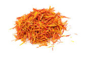 Safflower (Substitute for Saffron) Isolated on White Background — Stock Photo