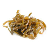 Kelp (Laminaria) Seaweed Isolated on White Background — Stock Photo