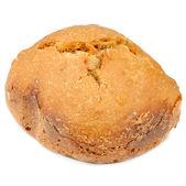 Pão de trigo integral, isolado no fundo branco — Foto Stock