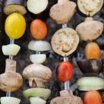 Vegetable Kebabs on Skewers — Stock Photo